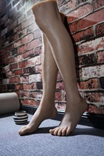 Male leg model simulation simulation model of feet foot white socks handsome handsome feet straight foot fetish silicone mold