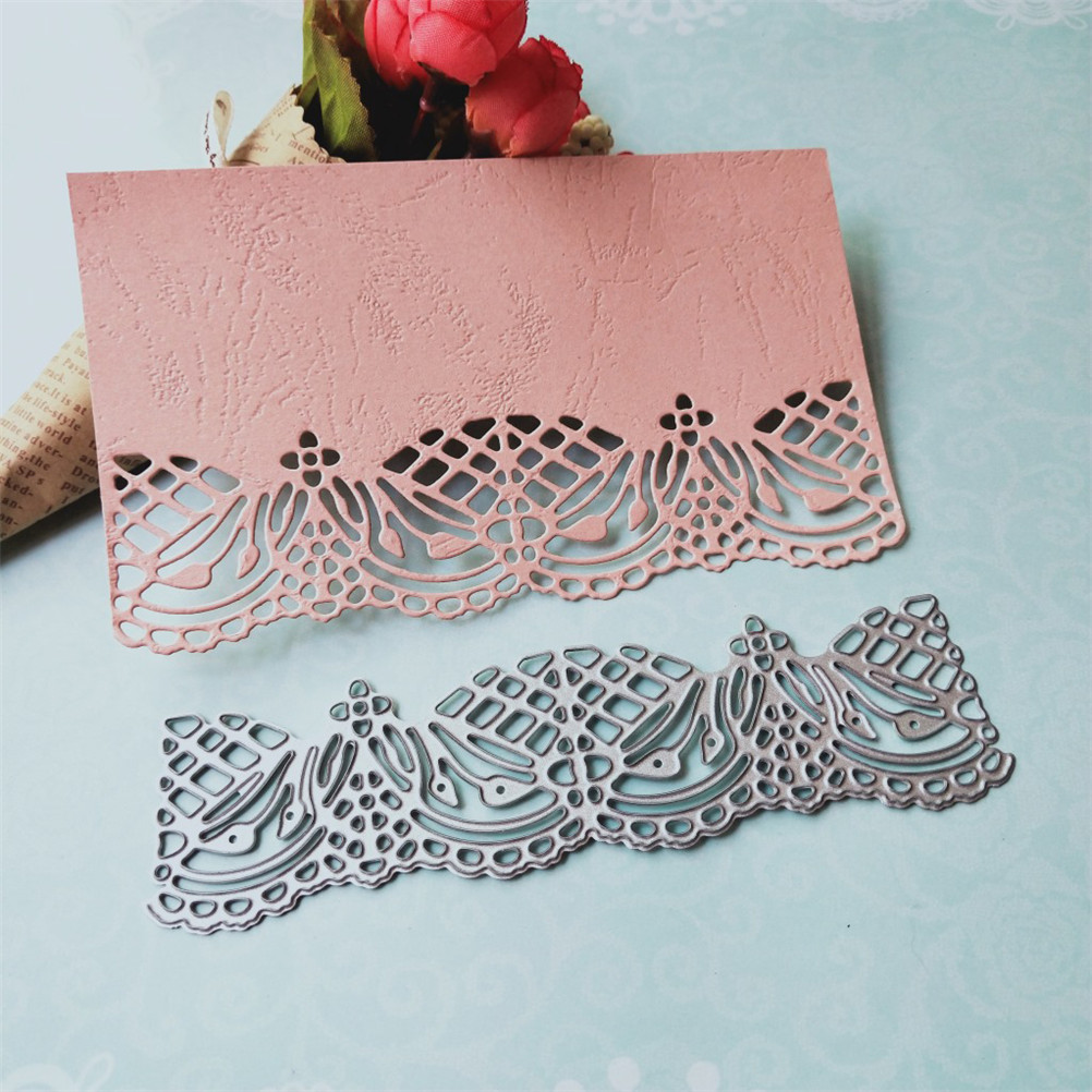 1PCS Carbon Stencils DIY Lace Flower Frame Metal Stencils For Scrapbooking Embossing Photo Album Cards Decor Drafting Supplies