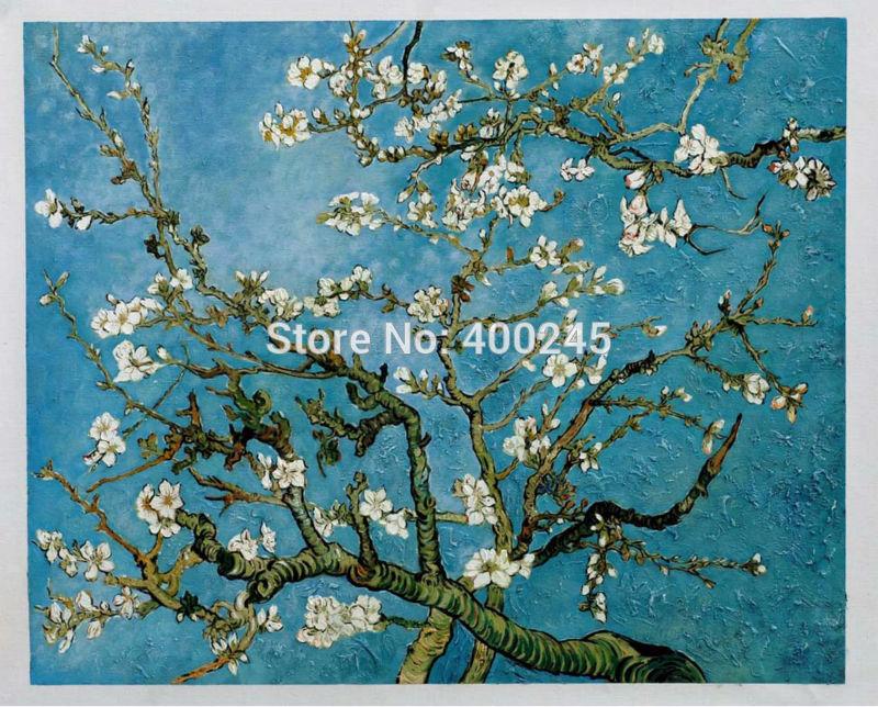 gogh pêra árvore em flor pintados à