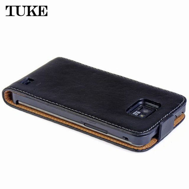 Brand TUKE For Galaxy S2 Plus i9105 Flip PU Leather Case For Samsung Galaxy S2 SII i9100 GT-i9100 cover Vertical Magnetic Bag