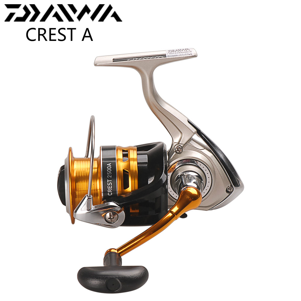 Originale DAIWA CREST 2500A 3000A Spinning Reel Fishing 3 + 1BB 5.3: 1 Carp Fishing Bobina Carretilha De pesca Molinete Ruota Che Gira