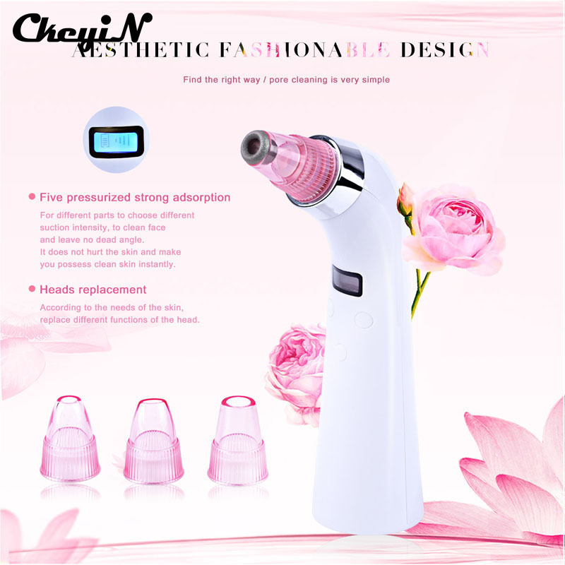 Kinfo Live Store Blackhead Pore Cleaner Removal Comedo Vacuum suction beauty device Face Nose acne removal Instrument Diamond Dermabrasion peel