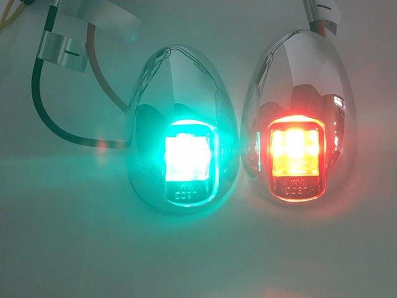 Image 3 - 1 комплект красный зеленый светодиодный фонарь для навигации лампа для 12 в морской лодки яхты портовый огонь правый отличительный огонь от ITC-in Морское оборудование from Автомобили и мотоциклы