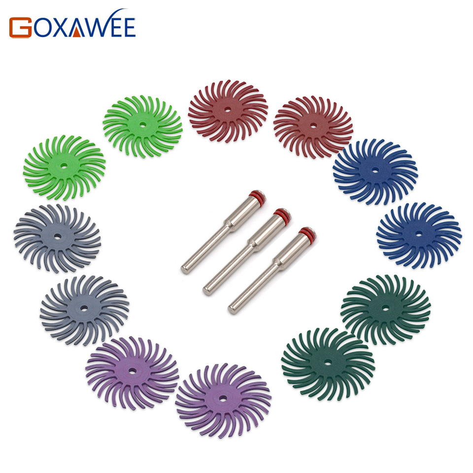 Jewelry Tools 3M Radial Bristle Brush Wheels 80 120 220 320 400 600 1000 84pcs Pack