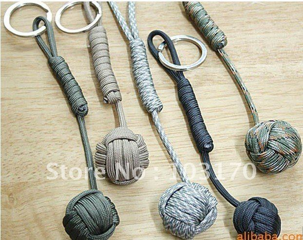 Free Shipping EMS Factory Handmade Knife LANYARDS SCUBA DIVING PENDANTS Lanyard with Steel ball 50 pcs