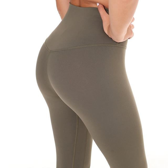 Женские облегающие спортивные Капри, Сексуальные Леггинсы для йоги, контроль животика, 4 способа, эластичная ткань, не видно качество, беспл...