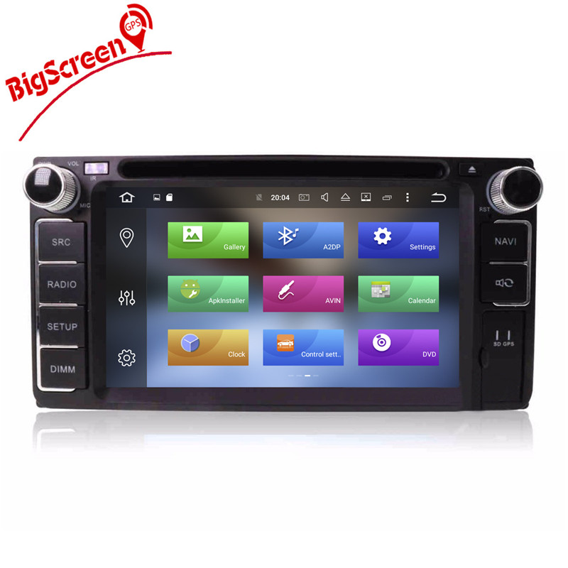 Perfect Android8.0 7.1 System Octa 8 Core Car DVD Player GPS Navigation For Most of Toyota Car Headunit Multimedia Autoradio Monitor 2