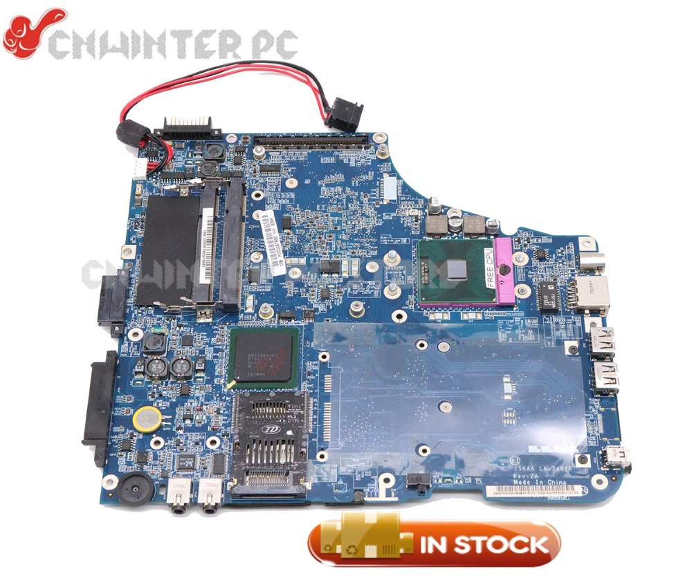 NOKOTION LA-3481P K000057510 K000067890 For Toshiba Satellite <font><b>A200</b></font> A205 Laptop <font><b>Motherboard</b></font> with graphics slot Free CPU image