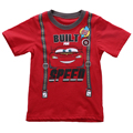 Cartoon Cars Baby Boy Tops Clothes Short Sleeve Summer T-shirt Kid Boy t shirt Costume