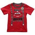 Coches de la historieta del Bebé Del Muchacho Tops Ropa de Verano de Manga Corta T-shirt Kid Boy t shirt Traje