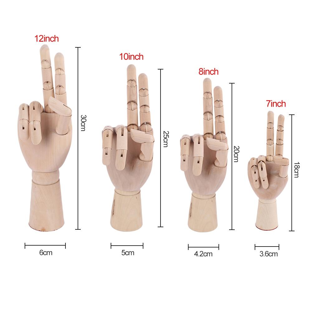 Wooden Hand Models 4