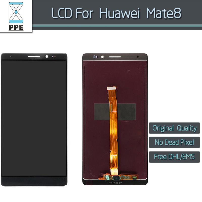 ФОТО 5pcs/lot Original LCD for Huawei Mate 8 LCD display touch screen digitizer assembly black white gold 6