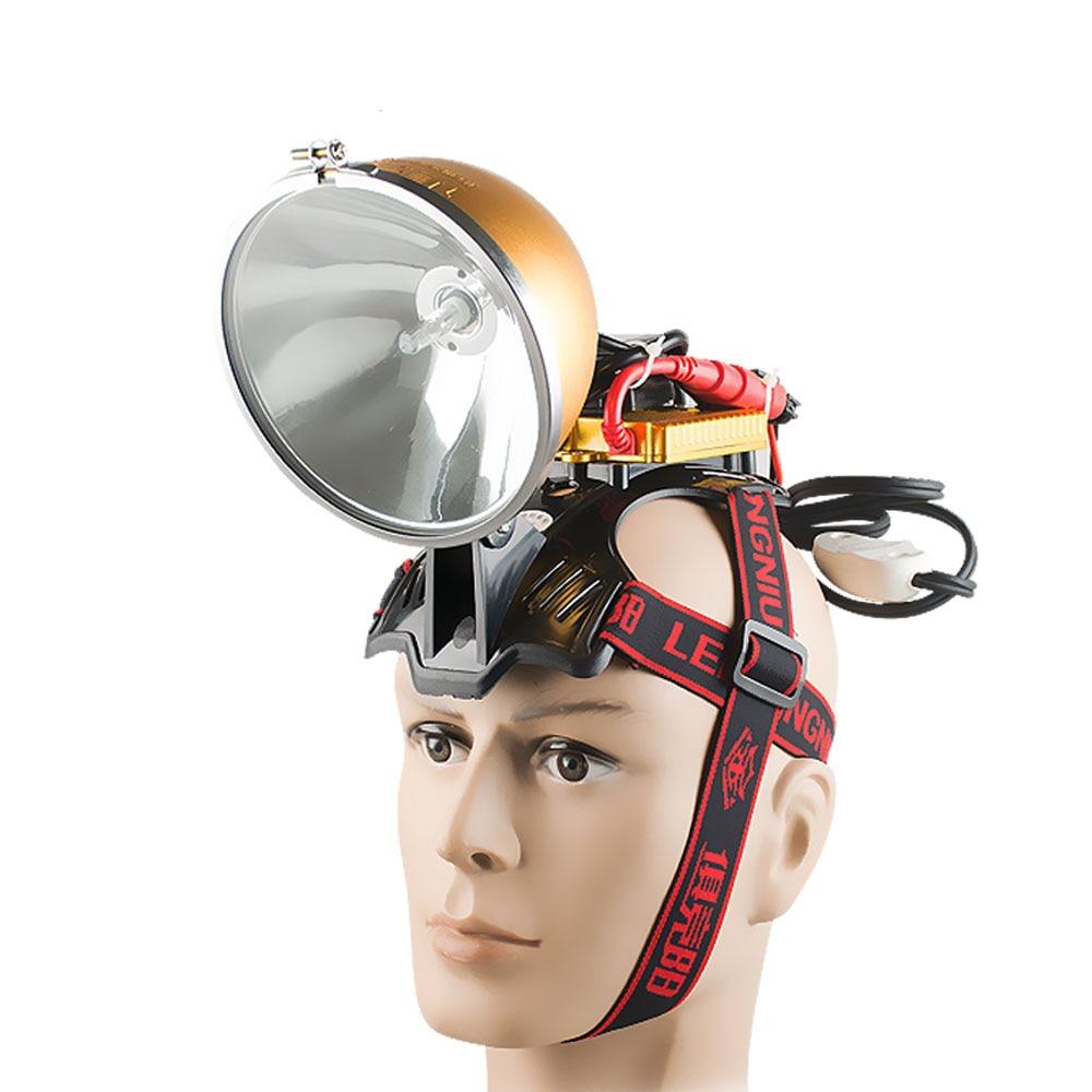 Bright camping 12V 35W HID headlamp 55W fishing lamp head lamp 75W headlight 100W hunting searchlight