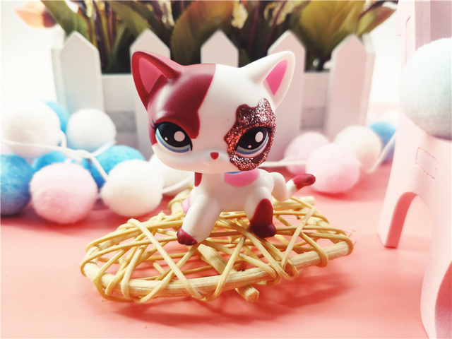LPS Pet Shop Cute Short Hair Cat Toys Great Dane Collie Dogs PVC Action Stand Figure Toys Cosplay Dolls Model Toy Gifts For Kids 2