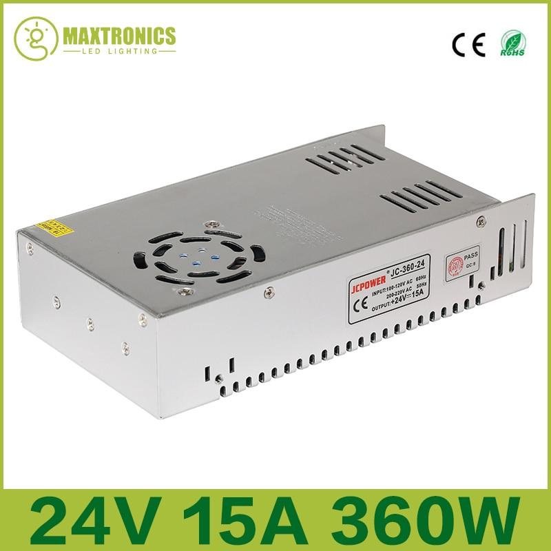 2016 besten preis 24 V 15A 360 Watt Universal Geregelt Schaltnetzteil für CCTV Led Radio Kostenloser versand