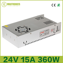 2016 Best cost 24 V 15 A 360 W Universal Regulated Switching Power Supply for CCTV Led Radio Free shipping
