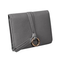 Famous Brand Designer Vintage Genuine Leather Women Hasp Wallet Purse High Capacity Wristlets Clutch Bag Metal