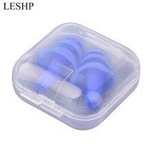 LESHP Мягкие силиконовые плавающие затычки для ушей для дайвинга, звуковые беруши для снижения уровня шума с коробкой для плавания, сна, храпа, аксессуары для плавания