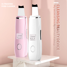 NEW LCD Ultrasonic Face Skin Scrubber Facial Cleaner Cleansing Spatula Peeling Vibration Blackhead Removal Exfoliating
