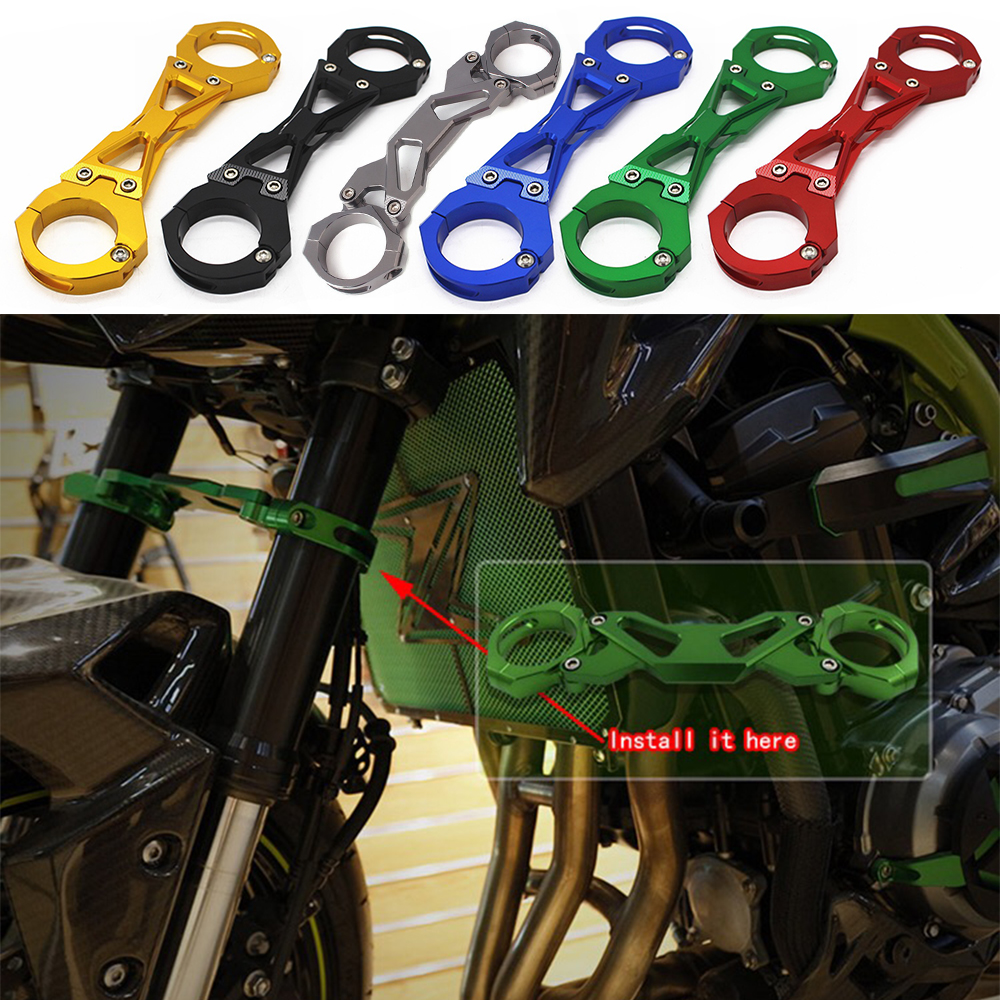 for <font><b>Kawasaki</b></font> Z900 CNC Aluminum Motorcycle Front Fork Clamp Balance Shock Brace Bracket for <font><b>Kawasaki</b></font> <font><b>Z</b></font> <font><b>900</b></font> <font><b>2017</b></font> 2018 image