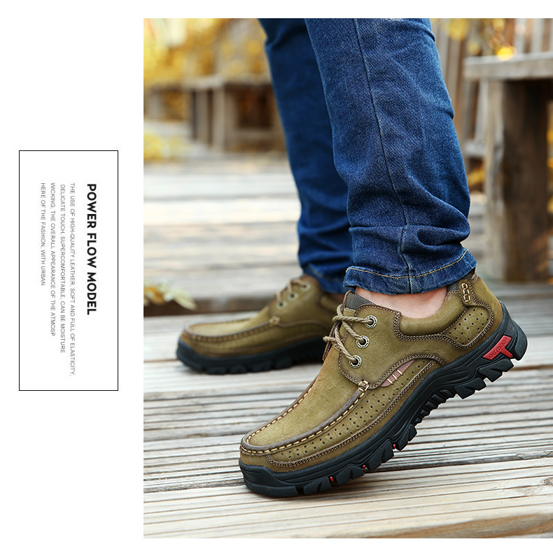 New High Quality Men's shoes 100% Genuine Leather Casual Shoes Waterproof Work Shoes Cow Leather Loafers Plus Size 38-48