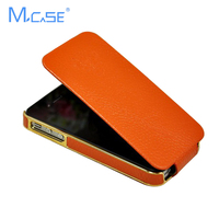 Luxury Electroplate Genunie Leather Flip Case For IPhone 4S Cover