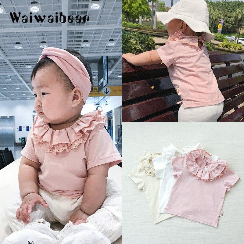 Wysokiej jakości bawełniane koszulki dla dzieci Baby Girl Casual - Odzież dla niemowląt - Zdjęcie 2