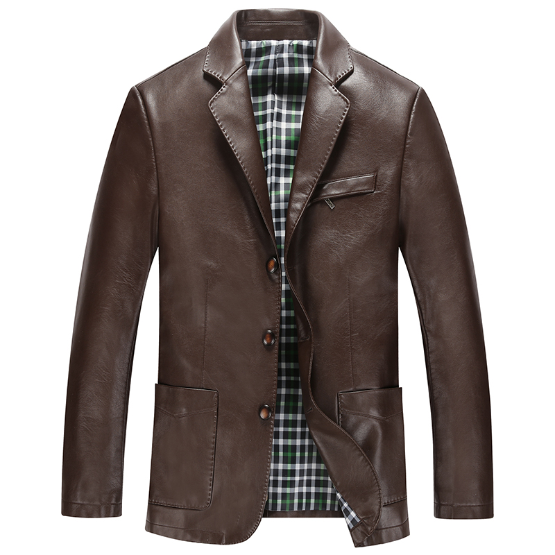 Hot !the New 2015 Men Leisure Leather Coat High-end Men's Suit Jacket Men's Fashion Leather Coat  Mens Leather Jackets And Coats