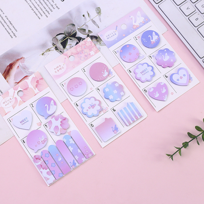 Pink Sandy Swan Daily Plan Modeling N Times Sticky Notes Escolar Papelaria School Supply Bookmark Label