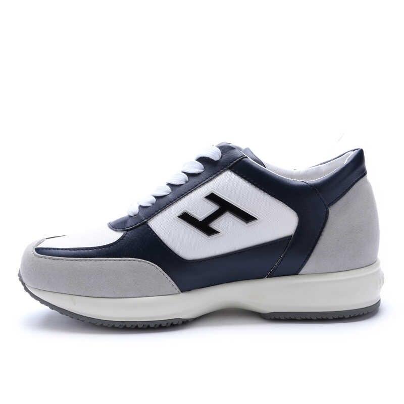 F. N. JACK homme chaussures hommes mode Sneakers hommes chaussures décontractées tendance respirant hauteur augmentant véritable chaussures en cuir de vache