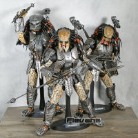 Hot Toys MMS 190 Alien vs. Predator AVP Scar Predator PVC Action Figure Collectible Model Toy 35cm