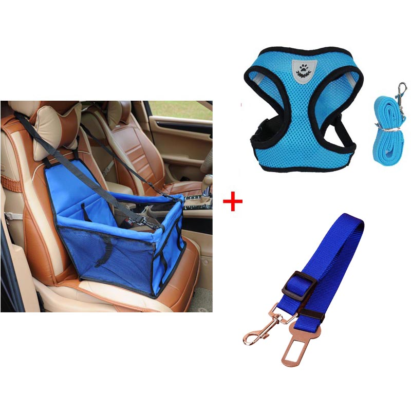 pawstrip 4 Colors Pet Dog Booster Seat Pet Safety Belt Car Dog Seat Belt S-XL Pet Dog Harness Vest Small Dog Leash Harness Set