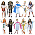 Ancient Egypt Clothing King Queen Pharaoh Costume Cosplay Carnival Halloween Costumes for Kids Boy Girls Christmas Party