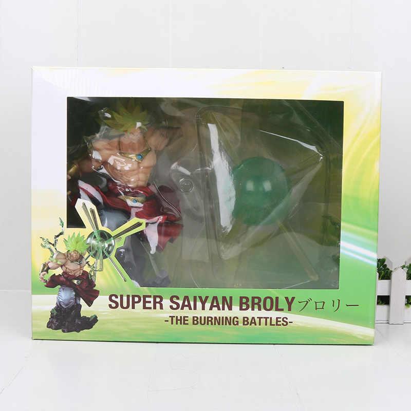 Anime dragon ball z broli figura de ação as batalhas em chamas super saiyan figura brinquedos dbz boneca collectible presente natal