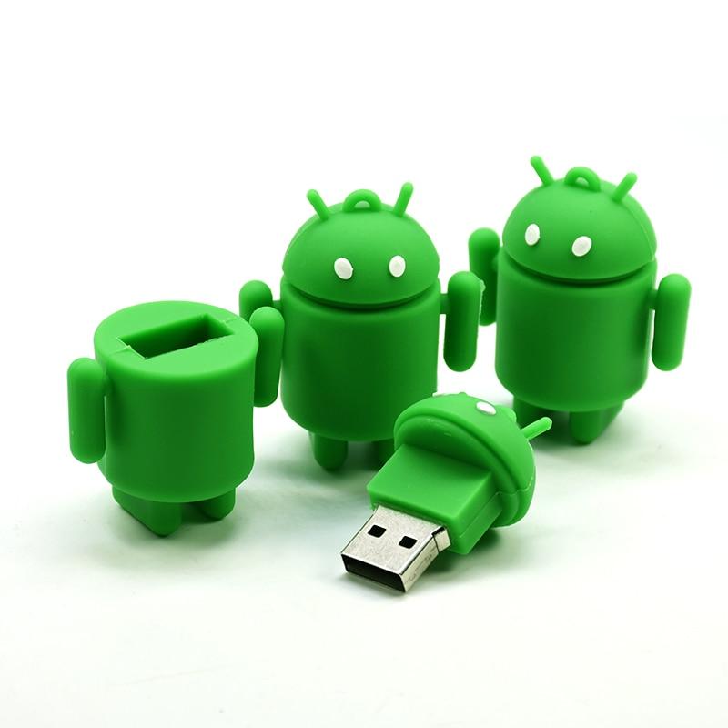 Cool Robot Usb Flash Drive 4GB 8G 16G 32GB 64GB Memoria Stick Usb Disk Pen Drive
