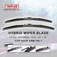 Hybrid Wiper Blade For Hyundai Sonata 2004 2010 1 Set 24 20 U HOOK Windscreen Wiper