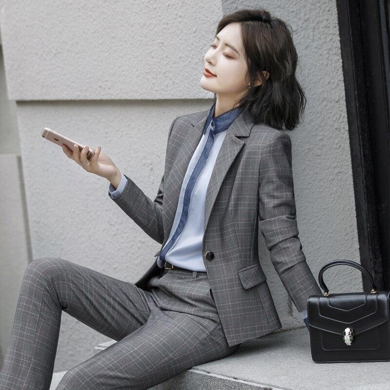 Di Gli Delle Coreano 2019 Solido Donna E 2 Insiemi Nuovo Salopette Due Tuta Pezzi 3 A Set Tute Donne Il Abiti 1 Colore Tweed Copre Formato Più wf7qAwv