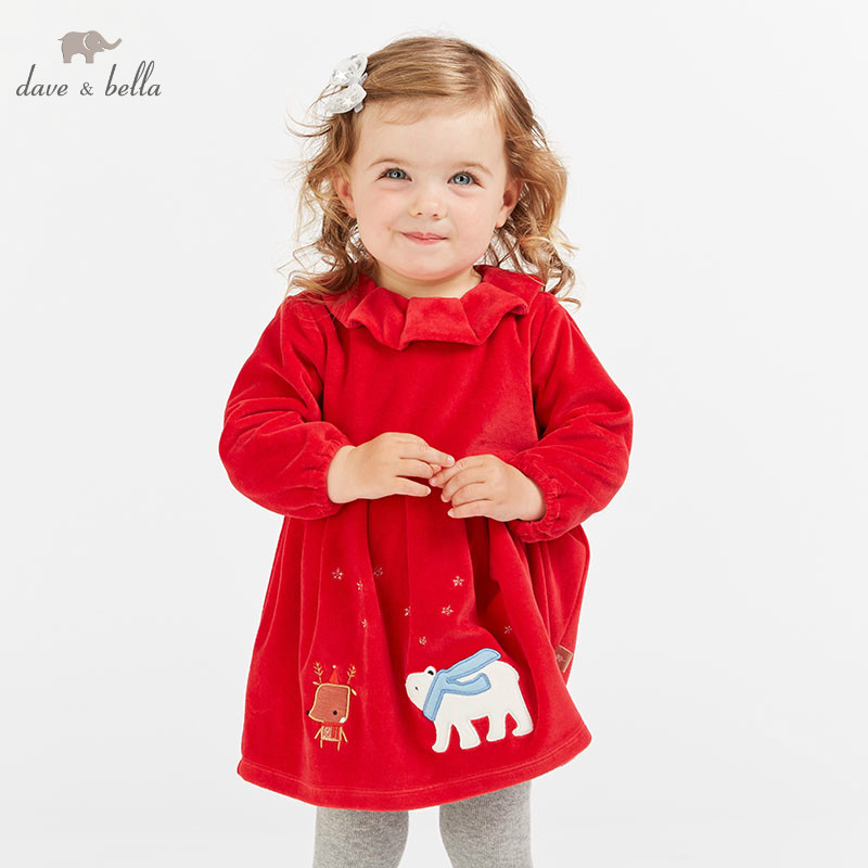 DBM8636 dave bella autumn infant baby girls fashion dress kids birthday party dress toddler children red dress DBM8636 dave bella autumn infant baby girls fashion dress kids birthday party dress toddler children red dress
