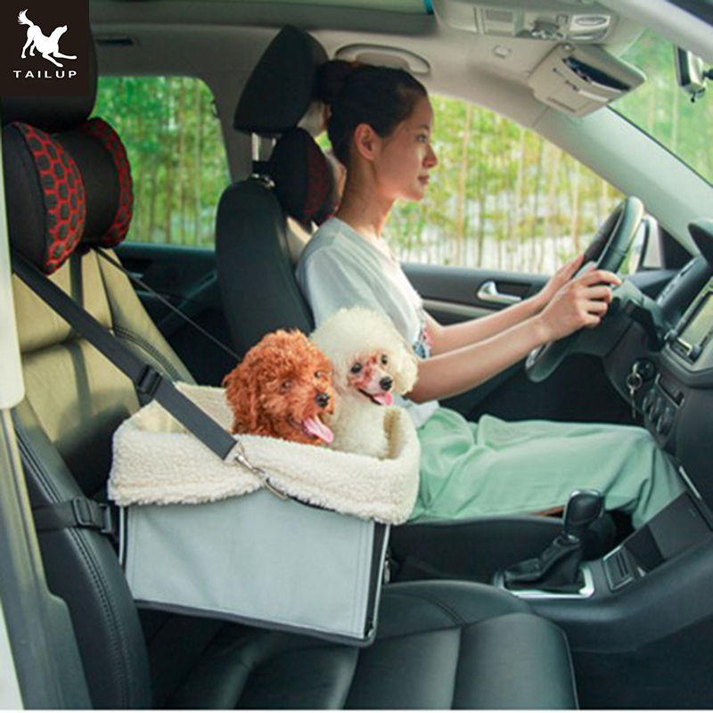 TAILUP 7Colors Fashion Car Travel Accessories Carrying Small Pet Dog Cat Foldable Pet Booster Car Seat  M/L