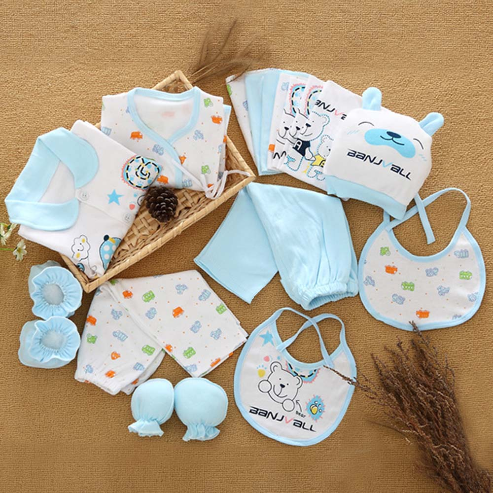18 Pcs/lot Fashion Newborn Baby gift Sets Infant Clothing Unisex baby boy and girl Suits Baby Outfits For 0-3 Month Wear