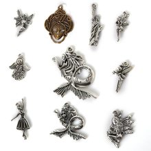 Fine Trendy Sale 3~10mm 10 Tyles Mixed Sizes Pure Symbol For DIY Charms High Quality Antique Silver Bronze Plated Pendant(China)