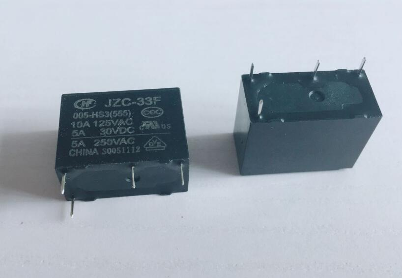 10PCS JZC-33F 5V 12V 24V 4PIN 1NO Power relay