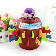 Free Shipping Children Funny Novelty Pirate Barrel Game Toys Super Interesting Pirate Tricky Toy Piggy Bank for Christmas Gift