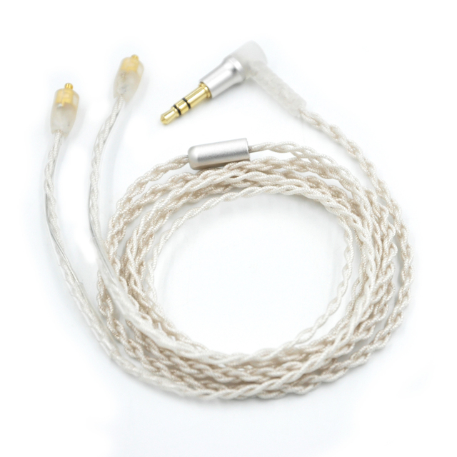 2016 New Earphone Cable Upgrade Silver Plated Cable  Headphones Detach Cable for Shure LZ A4 Senfer UE DQSM VT Earphone