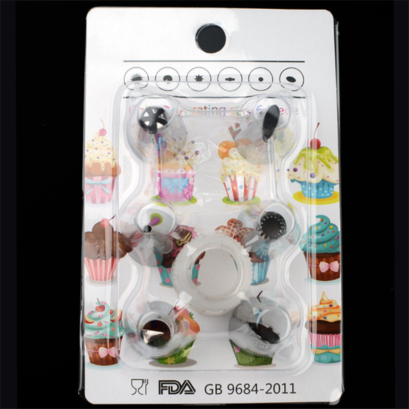 3Pcs/Set Stainless Steel Icing piping nozzles Set DIY Cream Cupcake Sugarcraft Decorating Baking Tools Free Shipping