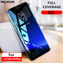 6D curved full screen protection glass sticker for Samsung galaxy S8 S9 tempered glass for Samsung