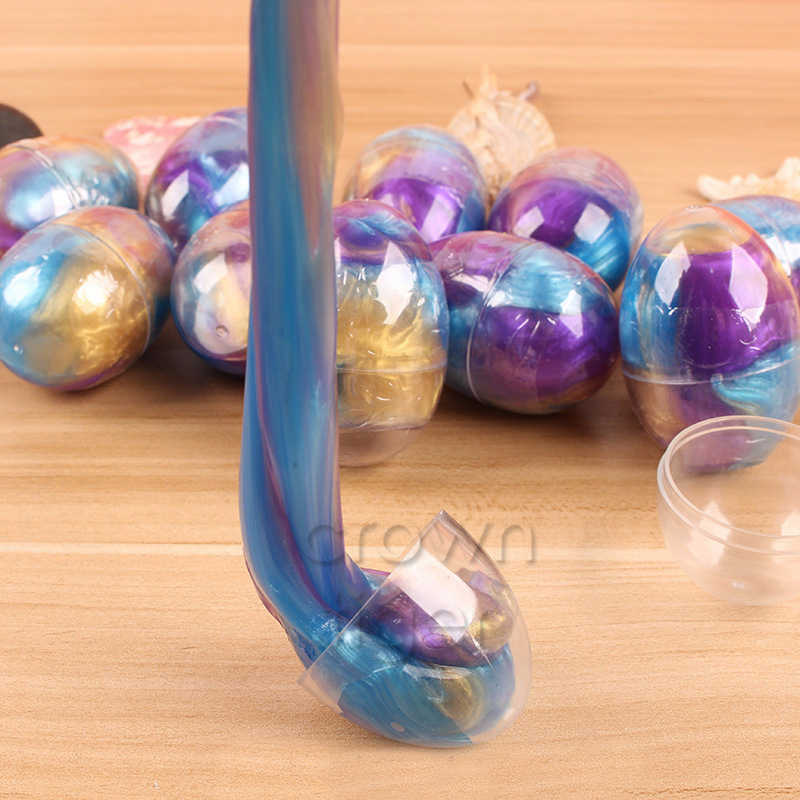 Galaxia huevo de cristal Slime modelado arcilla plastilina juguetes anti estrés diy juguete de Slime para niños Diy Slime putter mullido Playdogh Lizun
