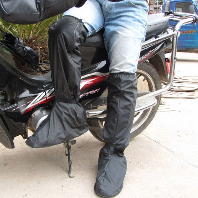 Freesmily Motorcycle shoe cover man adult anti slippery long tube outdoor riding waterproof shoe cover wear-resistant bottom