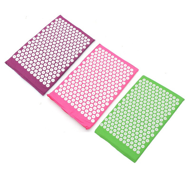 1Pcs Massager Massage Cushion Acupressure Mat Relieve Stress Pain Acupuncture Yoga Mat Pillow Beauty Health Care Tool Gifts