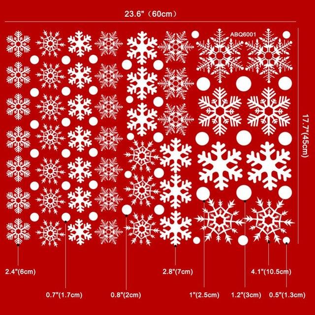 Christmas Snowflake Window Sticker 48 Pieces 8